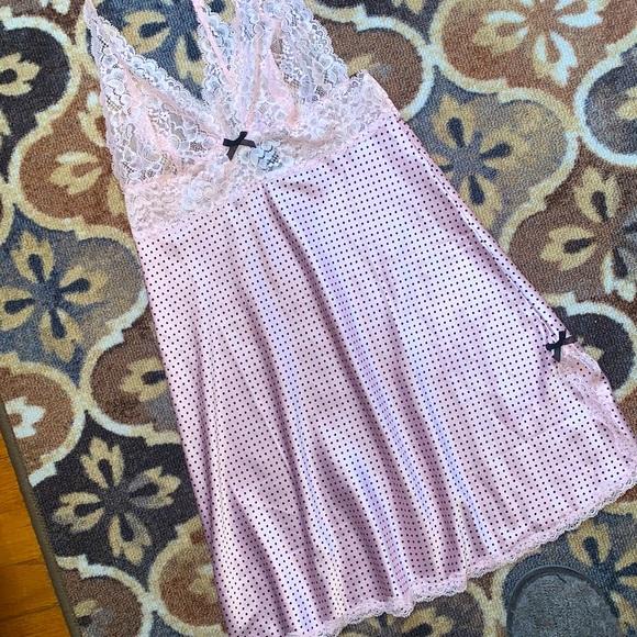Victoria's Secret Lace Polka Dot Babydoll